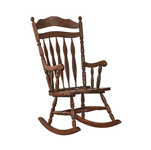 Coaster Traditional Medium Brown Wood Rocking Chair