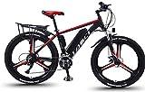 Bicicleta eléctrica Aleación de magnesio Integral de Llantas de 26 pulgadas bicicleta eléctrica de montaña E-Bici, 21Speed de velocidad variable bicicleta eléctrica con extraíble 13Ah Batería de ion