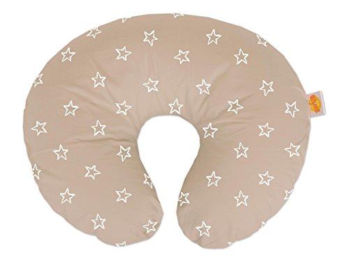 Theraline 594011202 Wynnie - das amerikanische Stillkissen inklusive Bezug, Sterne Cappuccino