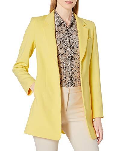 Tahari ASL Women's Notch Collar Topper, Lemon Yellow, 14