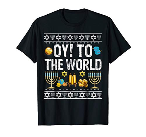 Oy To The World Jewish Gift T-Shirt