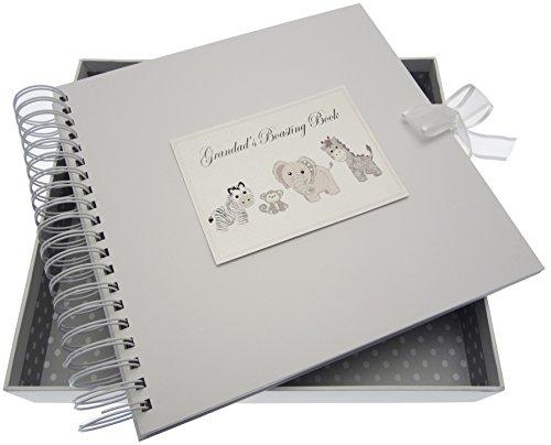 White Cotton Cards Argent Toys Grandad S Boasting carte et livre de mémoire