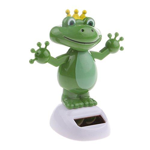 D DOLITY Grün Frosch Wackelfigur Wackel Solar Figur Tanzende Solarwackelfigur Kinder Spielzeug