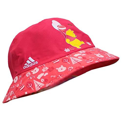 adidas + Disney Winnie Puuh Pooh Kinder Sonnenhut Sommer Mütze Bucket Rot Pink, Größe:S, Farbe:Pink