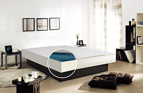 Aqua Sense Komplett Wasserbett 200x220 mit Sockel/Podest - 100% beruhigung - einschließlich Dual Wasserkern/Wassermatratze - Wasserbett Heizung - Bezug