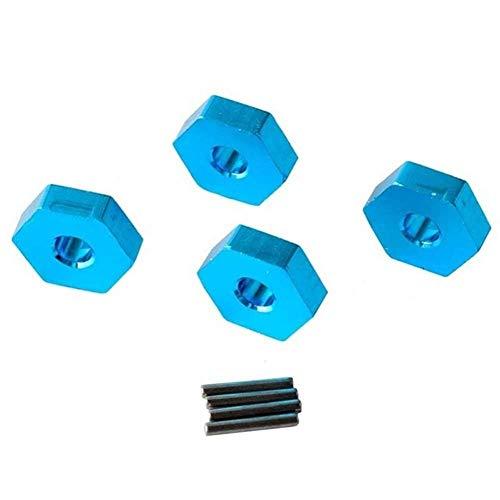V-MAXZONE Durable RC A580040 - Rueda de aluminio hexagonal de 12 mm, para coche 1:18, A949, A959, A969, A979, k929, accesorios para coche (color: púrpura) (color: azul)