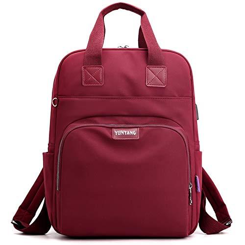 Myhozee Rucksack Damen Schulrucksack Mädchen Teenager Daypack Tagesrucksack Laptop Rucksack Tasche Schule Uni mit Laptopfach und Gepäckband für 15.6 Zoll Laptop, Universität Reisen Freizeit Job