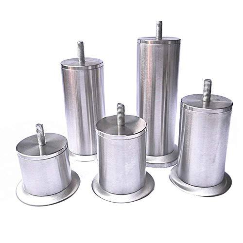 Möbelfuß métal 10-11cm réglable Chrome möbelfuss