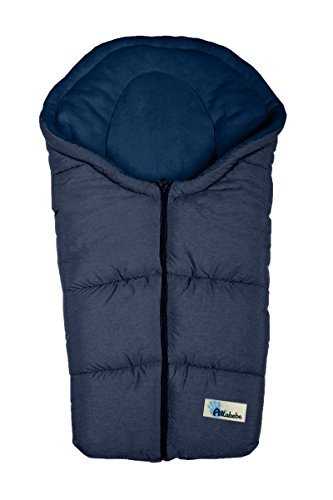 Altabebe AL2009P-49 Winterfußsack Alpin Collection für Babyschale, blau