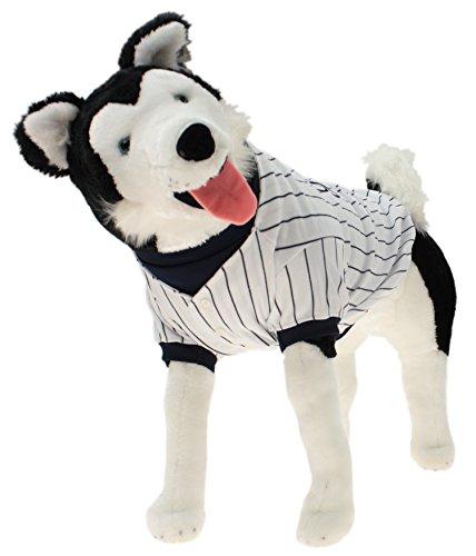 Sporty K9 MLB Baseball Striped Dog Jersey, New York Yankees Small