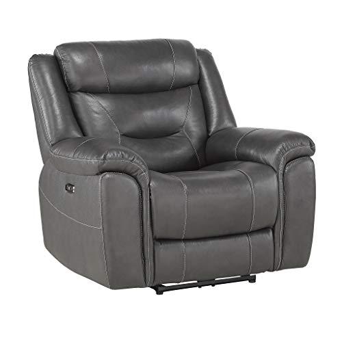 "Homelegance 41"" Power Reclining Chair, Gray"