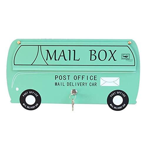 Mailbox voor buitenwandmontage, brievenbus, brievenbus, brievenbus, postbox, wanddecoratie, metalen verzinkt plaat, roestbescherming, afsluitbaar weer