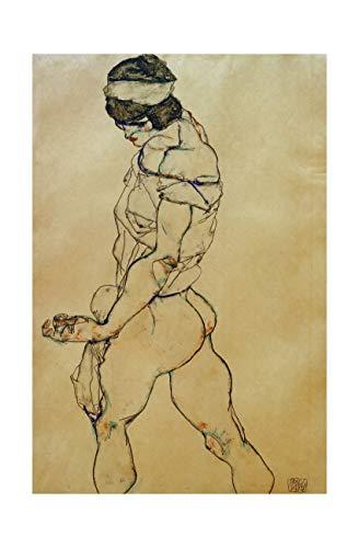 Egon Schiele - To the left female nude 1914 Print 61x91.5cm
