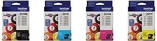 Brother LC201 Ink Cartridge (Black, Cyan, Magenta, Yellow, 4-Pack) in Retail Packaging