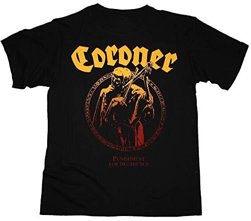 Coroner Punishment for Decadence Thrash Celtic Frost New Black T-Shirt Black-XXL
