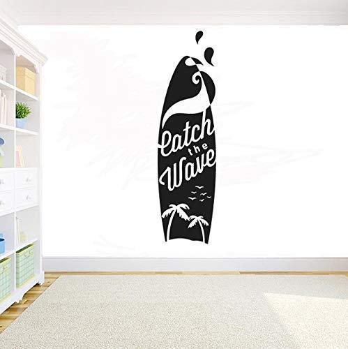 Tabla De Surf Eatch Wave Vinilo Pegatina De Pared Impermeable Extraíble Calcomanía Decorativa Decoración De Habitación Pared Tatuaje Arte Diy Mural 57X16Cm