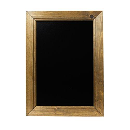 Chalkboards UK Pizarra enmarcadas Roble Oscuro, Color Negro, Madera, A3 (45 x 32.7 x 1.5cm)