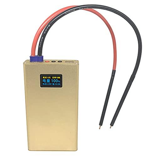 Soldador de punto ajustable de 20 engranajes portátil, Mini máquina de soldadura de punto de batería OLED Herramientas de níquel 0.2/0.3Mm para el paquete de baterías 18650 de bricolaje