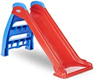 Little Tikes First Slide Toddler Slide, Easy Set Up Playset for Indoor Outdoor Backyard, Easy to Store, Safe Toy for Toddler, Slip And Slide For Kids (Red/Blue), 39.00''L x 18.00''W x 23.00''H