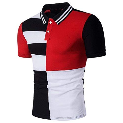 Heren poloshirt mode kleur revers korte mouwen T blok modern casual shirt tops daily uitgaan casual sports polohemd bovenstuk