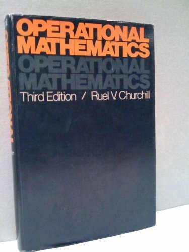 Operational Mathematics (Modern Operational Mathematics in Engineering)