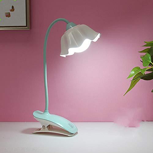 Clip oogbescherming kleine tafellamp LED Clip-on USB-lader bureau College-studenten leren nachtlampje op bed - blauw clip-modellen lader + USB-kabel touch-schakelaar sturen