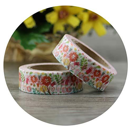 10pcs/lot Japanese Washi Tape Paper Flower Masking Tapes Adhesive Tapes Stickers Decorative Stationery Tape