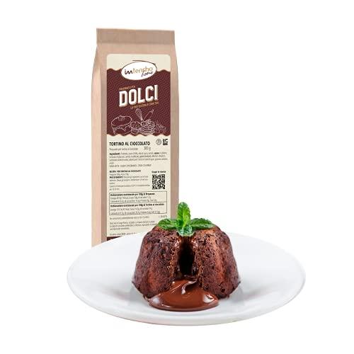 Intensho Home Preparato TORTINO AL CIOCCOLATO con cuore caldo di cioccolato fondente. Buono come in pasticceria, senza lattosio e senza conservanti.
