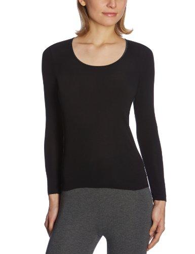 Schiesser Damen Spenzer 1/1 Arm Unterhemd, Schwarz (000-schwarz), 36 (S)