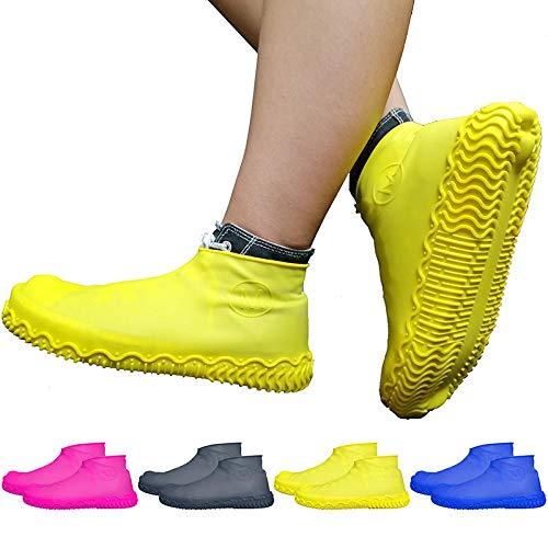GUANLIAN Protector de Silicona Impermeable para Zapatos de Lluvia, elástico, Uso extensivo, Antideslizante, para Hombres, Mujeres y niños Black#s