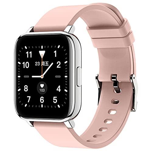 LDJ T96 Bluetooth Custom Dial Reloj Inteligente, Esfigmomanómetro De Ritmo Cardíaco Hombres Y Mujeres Fitness Impermeable Deportes Smartwatch para Android iOS,C