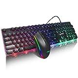 Zavddy Teclado Conexión de Cable USB Gaming Keyboard con...