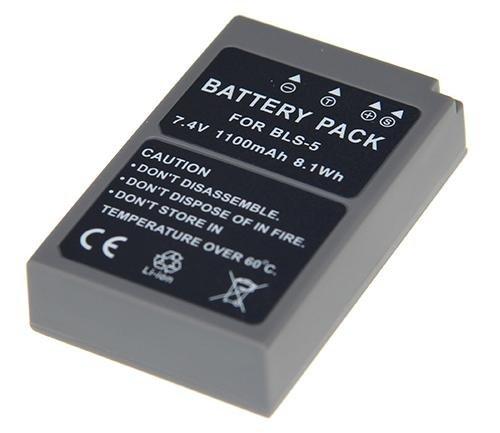 Batería para Olympus OM-D E-M10 Mark II – Batería de repuesto para Olympus BLS-5 y BLS-50 (1100 mAh, incluye almohadilla de pantalla PATONA)