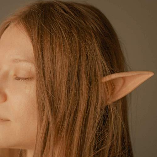 NATEE Elfenohren Latex Ohren Spitzohren für Cosplay Elfen Halloween Kostüm Karneval Fasching Zubehör