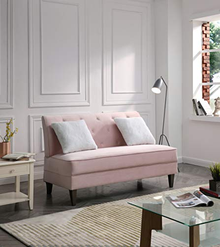Glory Furniture Benedict Settee Love Seats, Pink