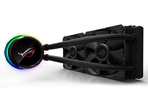 ASUS ROG Ryuo 240 All-in-One CPU-Wasserkühlung (1,77 Zoll OLED Display, Aura Sync RGB, ROG-240 mm-Lüfter)