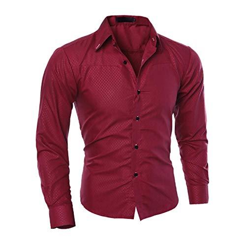 Hemd Hot Herren Slim V-Ausschnitt Langarm Muskel Solid Shirt Freizeithemden Tops...