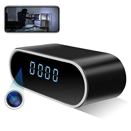 Spy Hidden Camera Clock ZXWDDP Home WiFi Wireless Full HD 1080P Security Nanny Camera with Low Light Night Vision-Motion Detection-Support iOS/Android