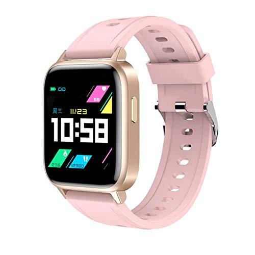 YDK GT0 Men's y 1 Reloj Inteligente, monitoreo de la Temperatura Corporal Rastro cardíaco Fitness Tracker Sports Watch IP68 Pulsera Inteligente Impermeable para Android iOS,B