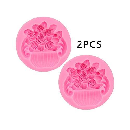 Dessert mould 2 PCS Topfkuchenform, DIY Silikon-Fudge Backen-Werkzeuge, Aromatherapie Gips handgemachte Kerze-Form