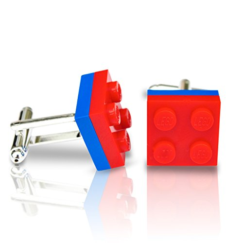 LEGO® Teller Manschettenknöpfe (rot und blau) Hochzeit, Groom, Herren Geschenk