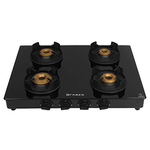 Faber Onyx 4BB BK CI 4 Burners Hob Cooktop (Black)