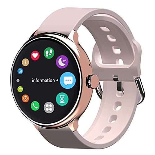 G&UWEI Pulsera Inteligente del Rastreador De Fitness, Pantalla Táctil Completa Smart Watch Pedómetro Tasa De Corazón Monitor De Sueño IP67 Compatible con Impermeabilidad para Android iOS,Rosado