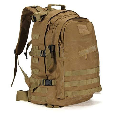 YYMMQQ zaino da esterno,55L 3D Outdoor Sport Military Tactical Climbing Mountaineering Backpack Camping Hiking Trekking Canvas Camo Rucksack Travel Bag,khaki,50, 70L