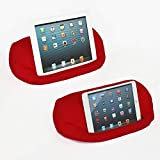 Lap PRO - Mini, Universal Beanbag Lap Stand Compatible with iPad Mini, Kindle, Nexus, Android & All Tablets, E-Readers, Books & Magazines - Bed, Couch, Travel - Adjustable Angle; 0 - 89 deg. (Red)