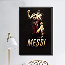Messi Lionel Messi Football Player Super Star Art Painting Silk Canvas Poster Wall Home Decor Artwork 40 * 60Cm No Frame