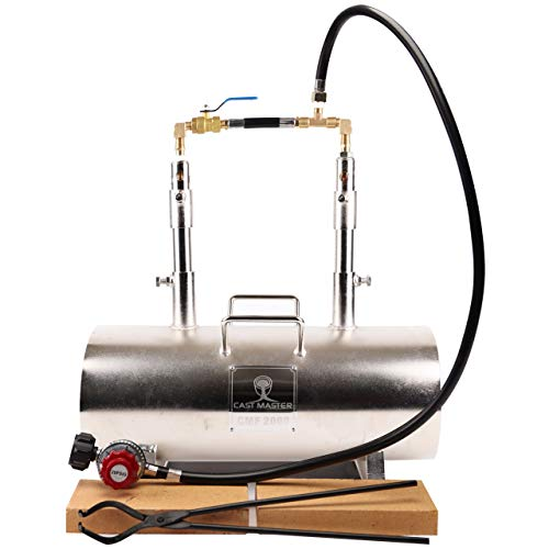 USA Cast Master Elite Portable Double Burner Propane Forge Blacksmith Farrier Caster Deluxe KIT...