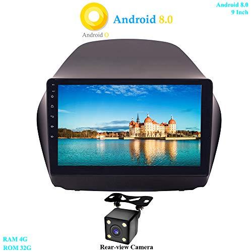 XISEDO Android 8.0 Autoradio In-dash Car Radio 9 Pollici Car Stereo 8-Core RAM 4G ROM 32G Navigatore GPS con Schermo di Tocco per Hyundai IX35 (2010-2014) (con Fotocamera Posteriore)