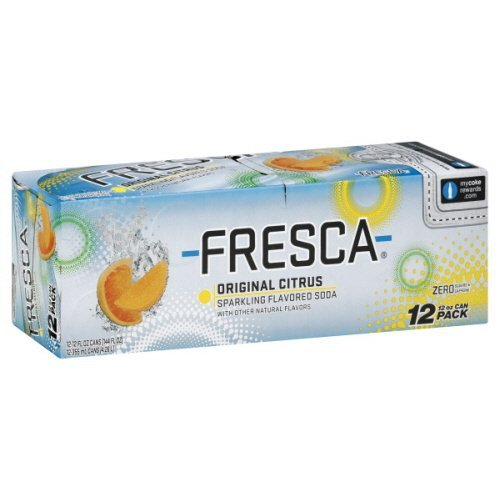 Fresca Soda, Sparkling Flavored, Original Citrus, Fridge Pack, 144 Fl. Oz. With Other Natural Flavors.