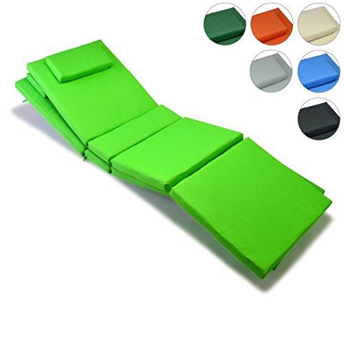 Nexos GL06022_SL2 Divero 2-er Set Liegen-Auflage Kopfkissen für Sauna Garten Terrasse hochwertig hellgrün